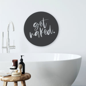 Get Naked circle bathroom wall art NZ