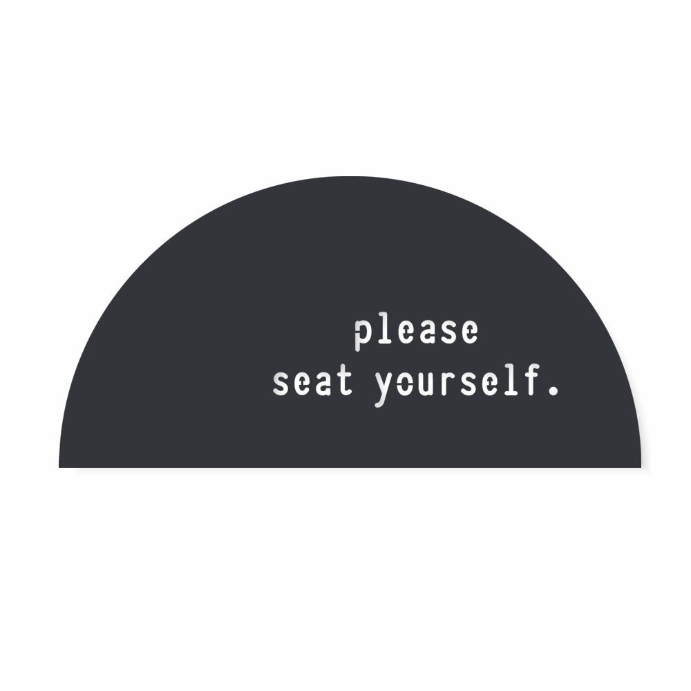 Please seat yourself funny bathroom wall decor sign by LisaSarah