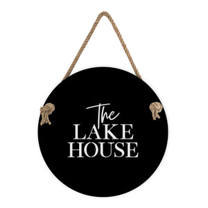 The Lake House sign