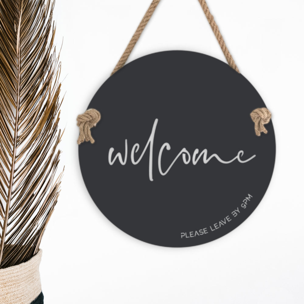 Metal welcome sign front door decor Australia