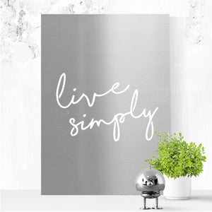 Live Simply - end of line