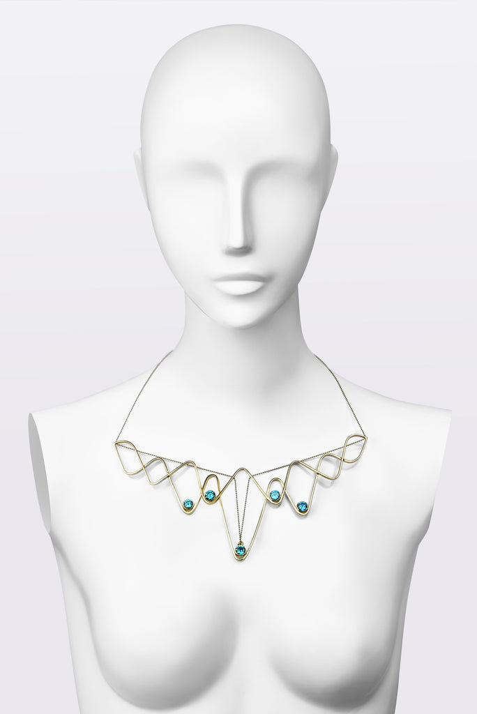 BLUE LOTUS CRYSTAL Necklace