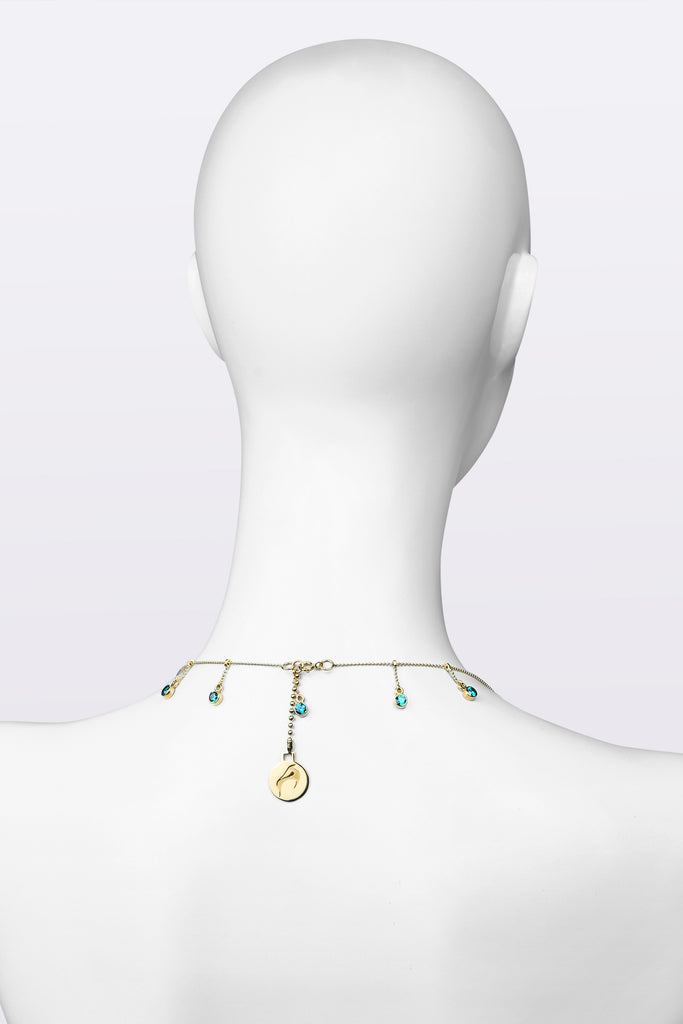 KATOUCH ATELIER | BLUE LOTUS CRYSTAL | Necklace