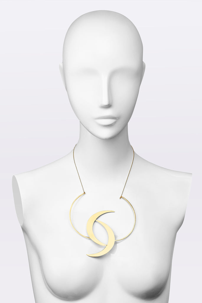 KATOUCH ATELIER | HALF MOON LOVE ENAMEL | Necklace