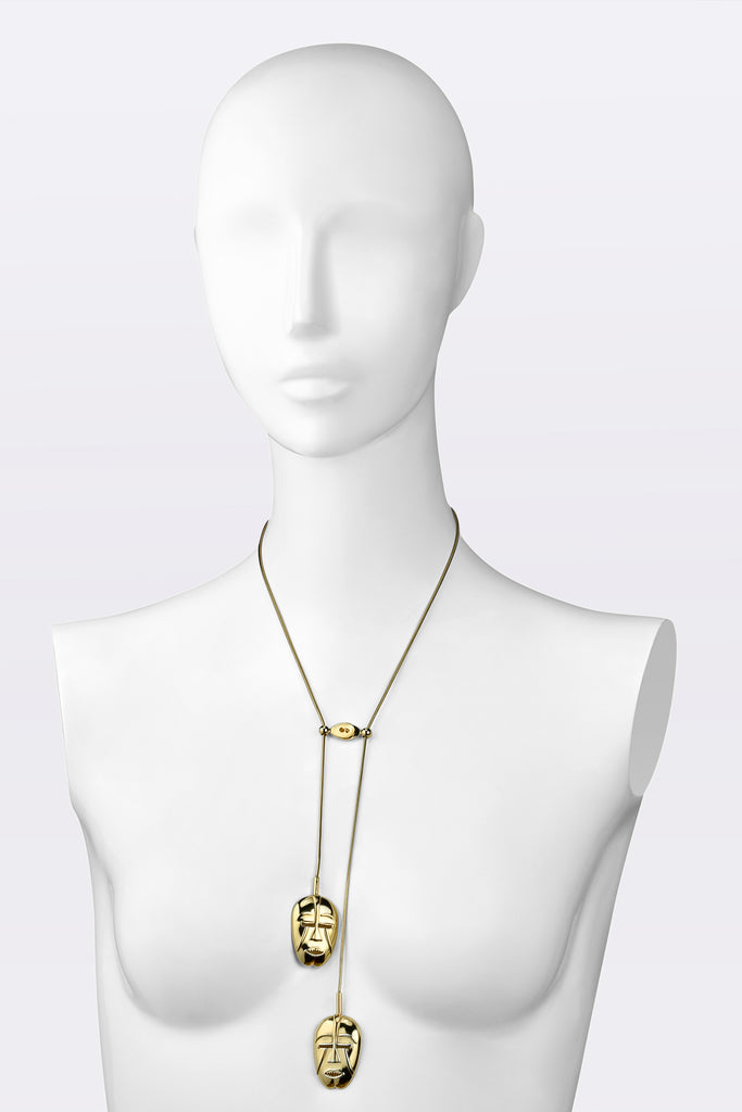 KATOUCH ATELIER | WOYO MASK YELLOW GOLD | Necklace