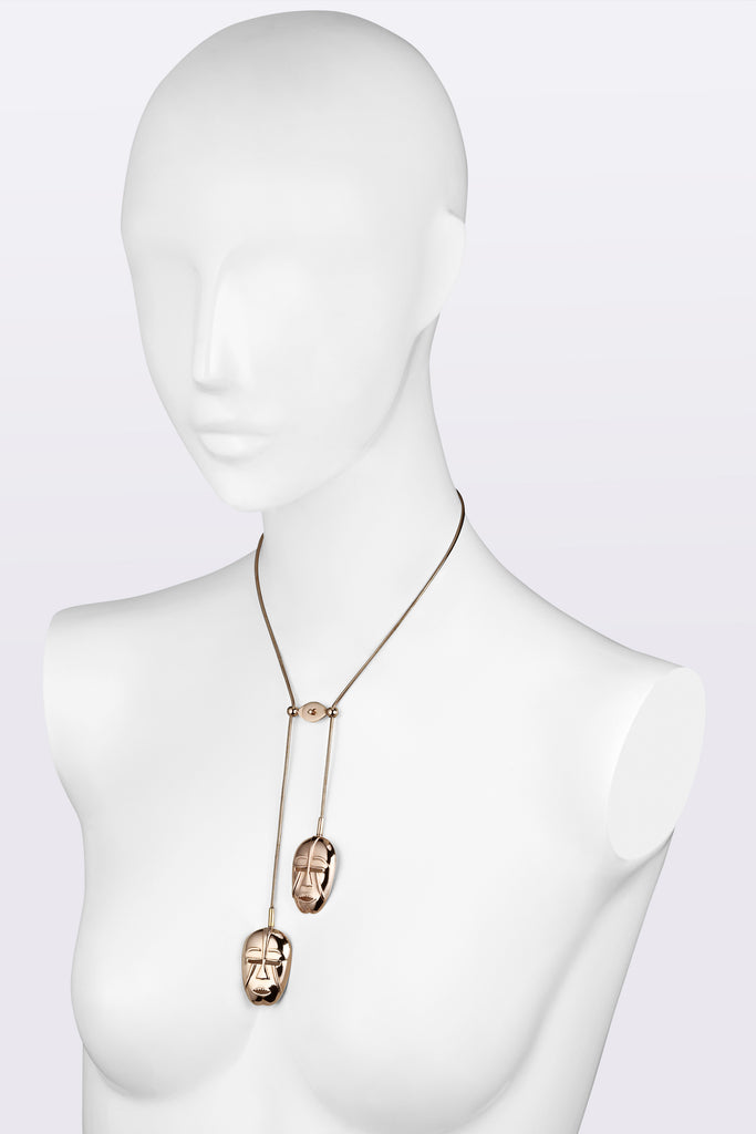 KATOUCH ATELIER | WOYO MASK ROSE GOLD | Necklace