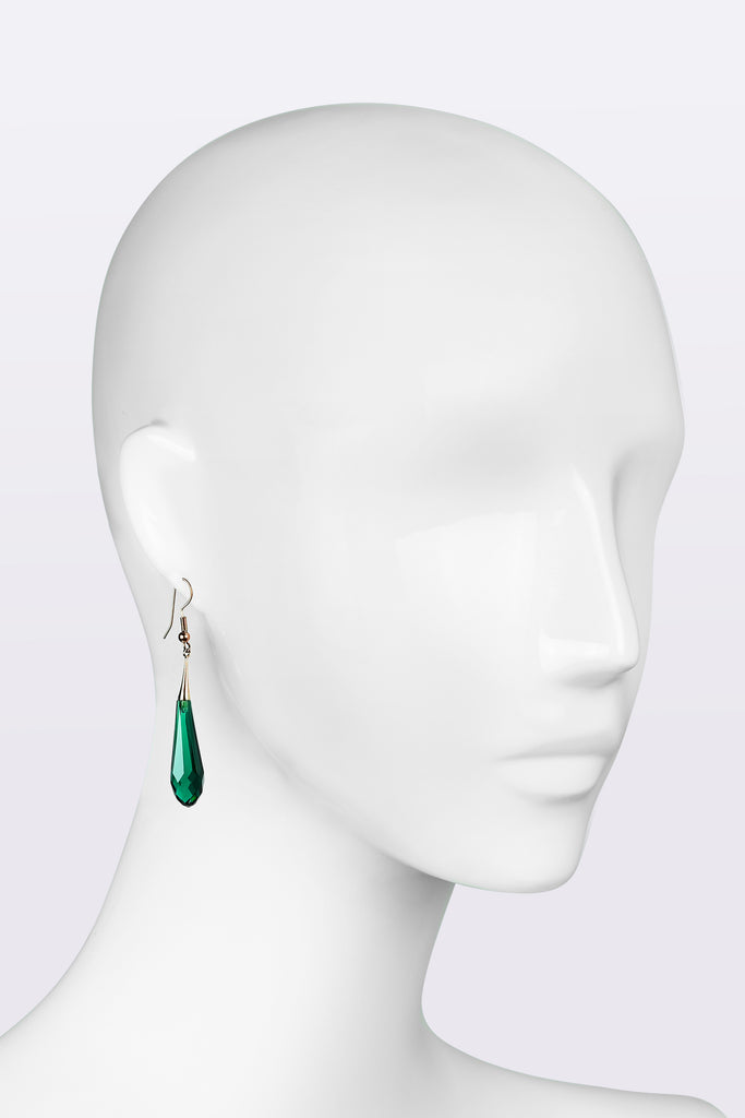 EMERALD Tear drop earrings