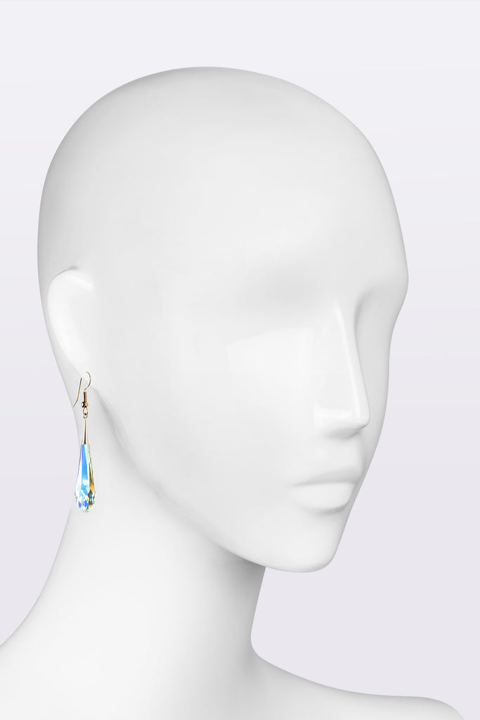 Hook earrings with Swarovski iridescent crystal
