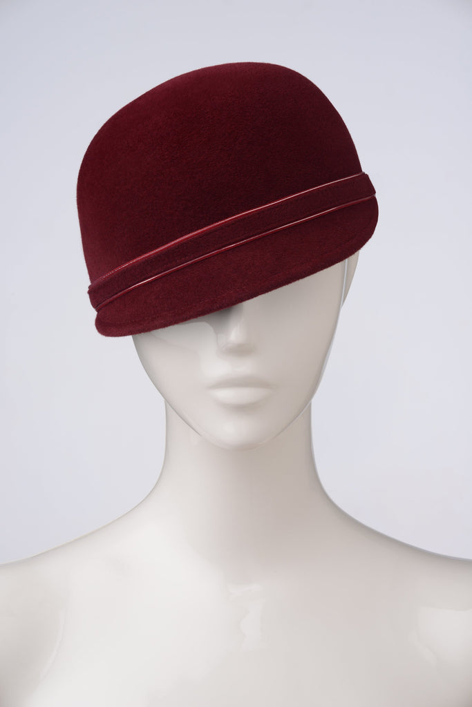 BORDEAUX Newsboy hat