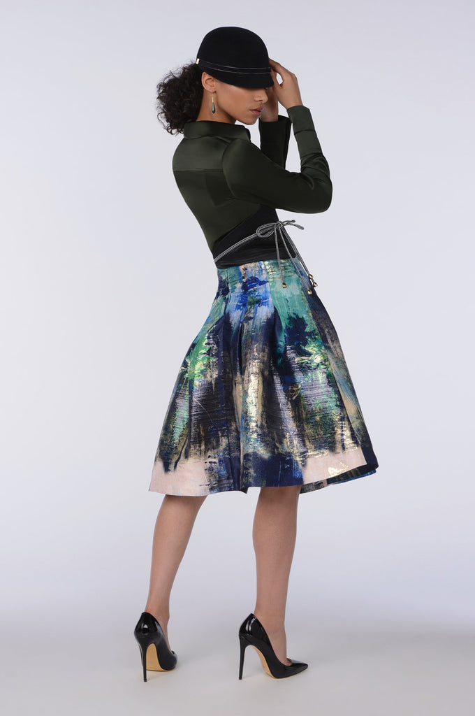 ORIENTAL LILY SKIRT GREEN