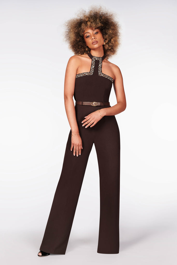 Gazella chocolate jumpsuit