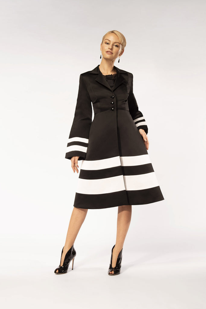 Black and white tailor coat
