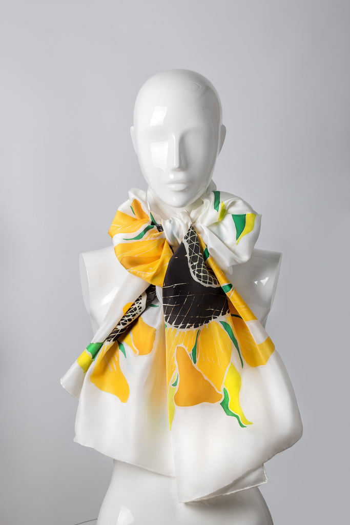 KATOUCH ATELIER | SUNFLOWER - Hand-painted shawl