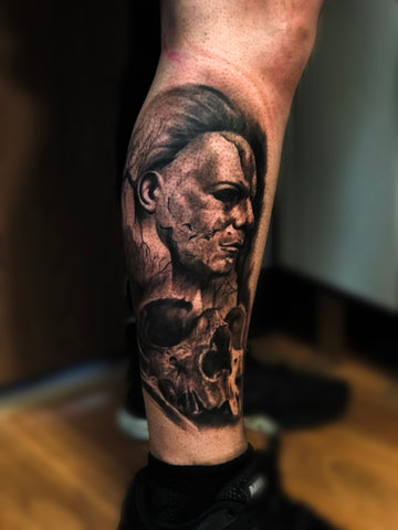 BLACK AND GREY MICHAEL MYERS