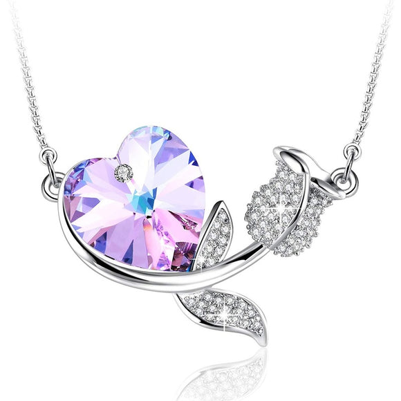 Fashion Love Heart Women's Pendant Elegant Necklace