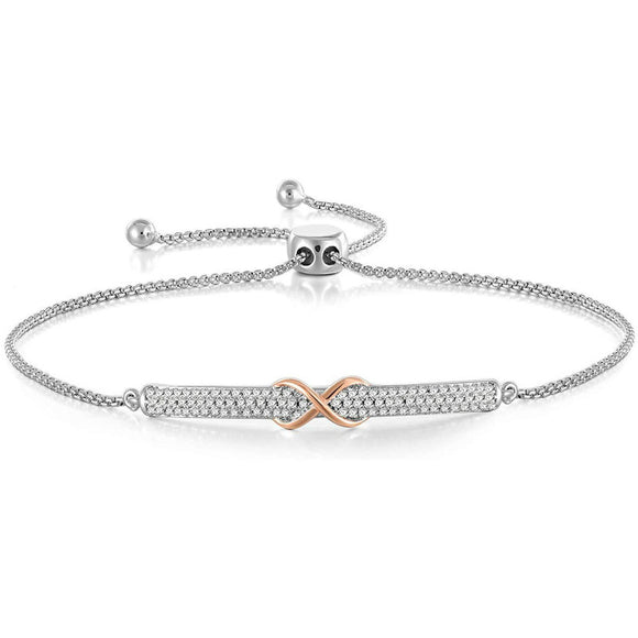 Adjustable Silver Bracelet for Women Girl Friend Daughter