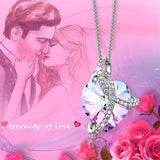 Crystals from Swarovski Love Heart Pendant Necklace