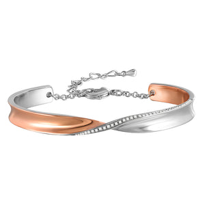 SPECIAL DISTORTION SHAPES ROSE GOLD BRACELET