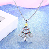 Christmas Tree Pendant Necklace for Girls Women