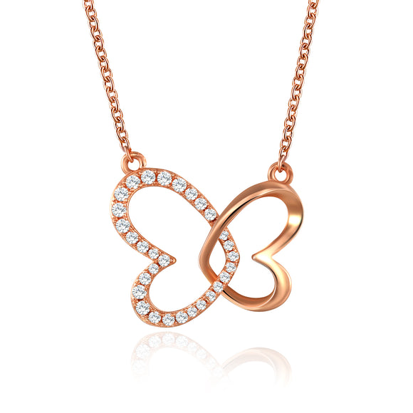 HEART TO HEART ROSE GOLD NECKLACE