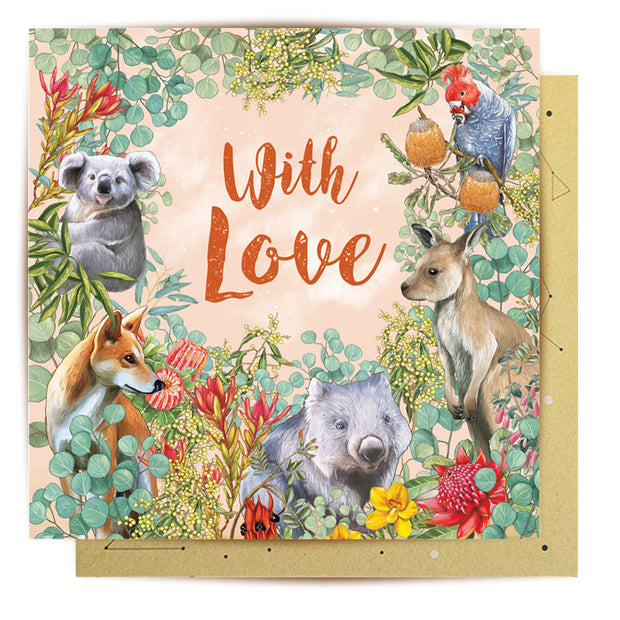 Mini Card - With Love Australia