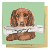 Newspaper Pup Greeting Card