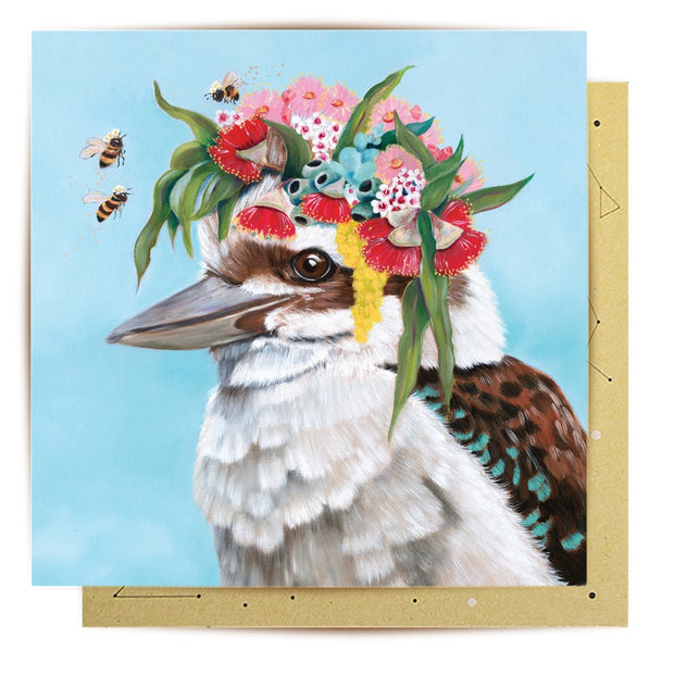 Mini Card - Kookaburra Bees