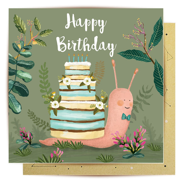 Mini Card - Birthday Snail