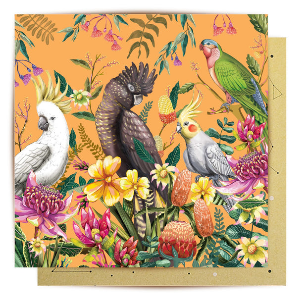 Floral Paradiso Greeting Card