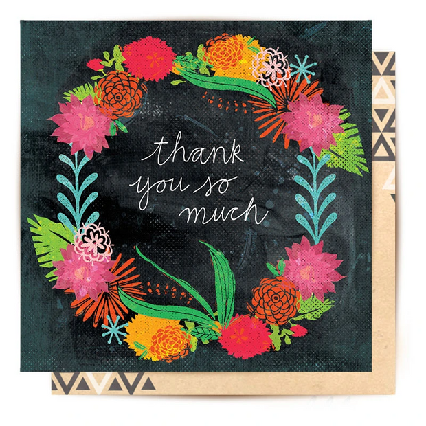 Botanical Thanks Greeting Card