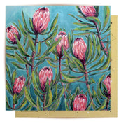 Mini Card - Painterly Protea
