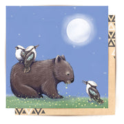 Mini Card - Nightime Wombat