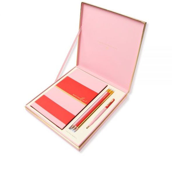 Alice Pleasance Notebook Gift Box Set - Orange and Pink – Marvellous