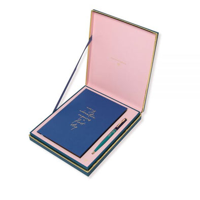 Alice Pleasance Travel Journal Gift Set – Adventure – Steel Blue