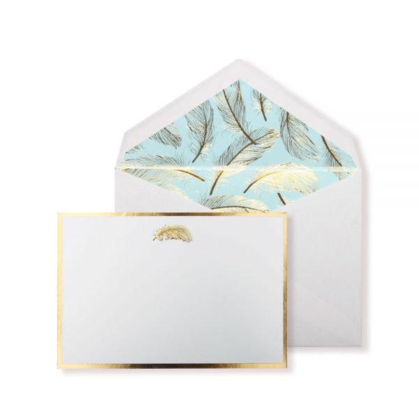 Alice Pleasance Correspondence Cards Feather Box of 10