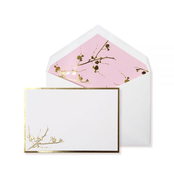 Alice Pleasance Correspondence Cards – Cherry Blossom - Pink - Box of 10