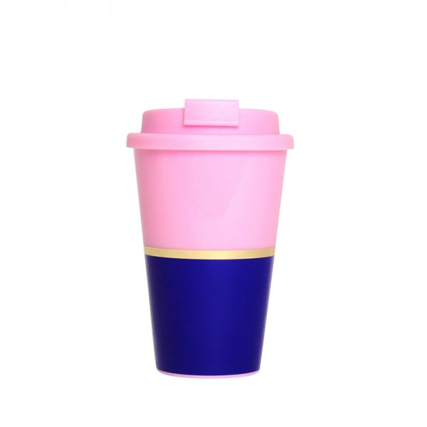 Alice Pleasance Travel Mug Pink & Royal Blue