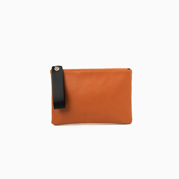 Two Tone Loop Handle Clutch by Adorne