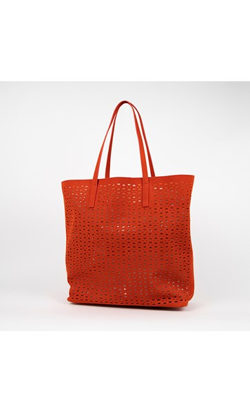 Cut Out Vegan Suede Tote Bag by Adorne