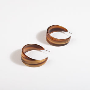 Wide Resin Hoop Front Earrings by Adorne
