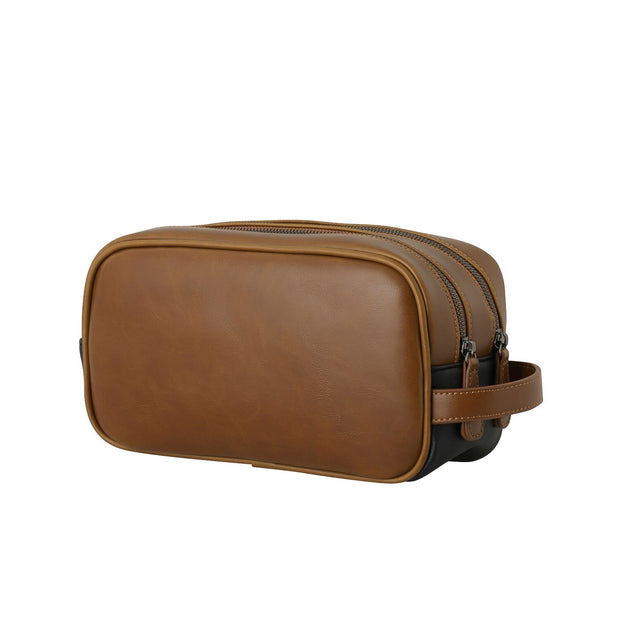 Mens Toiletry and Wash Bag - Tan by Black Caviar