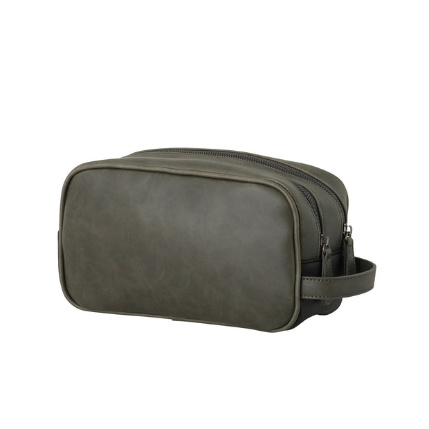 Mens Toiletry and Wash Bag - Khaki by Black Caviar