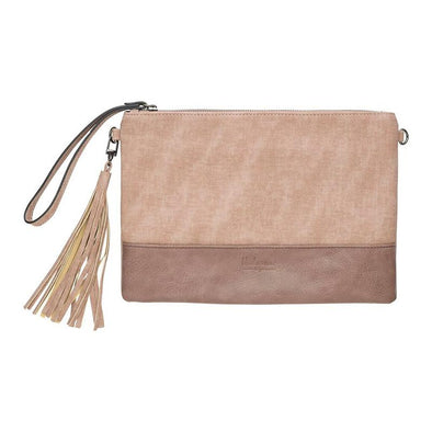Lily Cross Body Bag & Clutch - Light Brown by Black Caviar