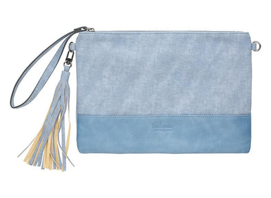 Lily Cross Body Bag & Clutch - Blue by Black Caviar