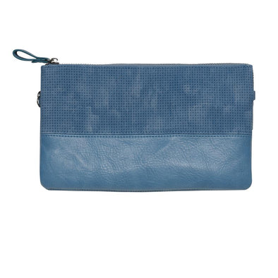 Hope Clutch and Cross Body Bag - Denim Blue by Black Caviar