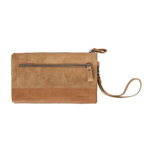 Hope Clutch and Cross Body Bag - Sand and Tan by Black Caviar