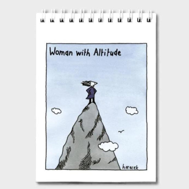 Judy Horacek Notepad - Woman With Altitude