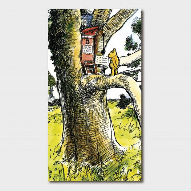 Winnie the Pooh - Pooh at Owl's House Card