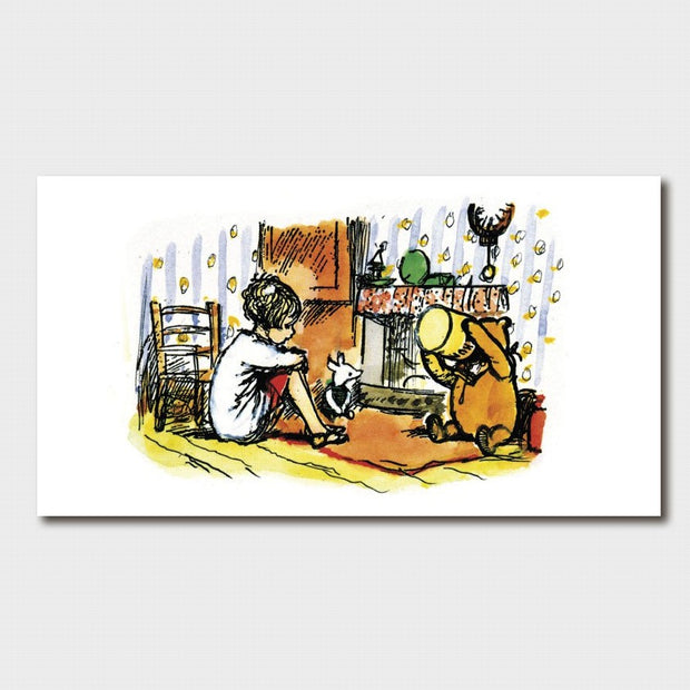 Winnie the Pooh - Christopher Robin; Piglet & Pooh Card