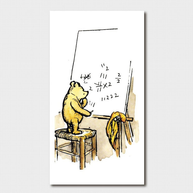 Winnie the Pooh - Pooh doing Maths Card